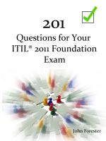 Cover for '201 Questions for Your ITIL Foundation Exam'