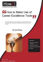 Cover for 'How to Make Use of Career Excellence Tools'