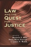 Cover for 'Law and the Quest for Justice'