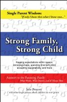 Cover for 'Strong Family, Strong Child'