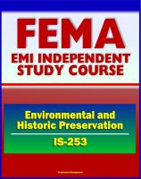 Cover for '21st Century FEMA Study Course: Coordinating Environmental and Historic Preservation Compliance (IS-253) - Historic Property Laws, Preservation Issues, STATEX and CATEX'