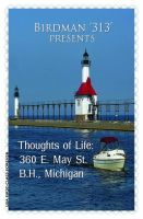 Cover for 'Thoughts of Life: 360 E. May St. B.H., Michigan'