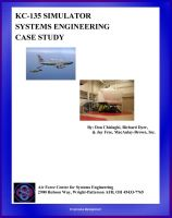 Cover for 'KC-135 Simulator Systems Engineering Case Study - Technical Information and Program History'