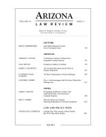 Cover for 'Arizona Law Review: Volume 53, Issue 3'