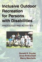 Cover for 'Inclusive Outdoor Recreation for Persons with Disabilities: Protocols and Activities'