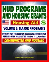 Cover for '21st Century Essential Guide to HUD Programs and Housing Grants – Volume Two, Major Programs, Housing for the Elderly (Section 202) and Disabled (Section 811), Homeless Assistance, Applications'