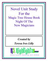 Cover for 'Novel Unit Study for the Magic Tree House Book Night of the New Magicians'