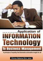 Cover for 'Application of Information Technology to Business Management'