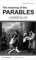 Cover for 'The meaning of the Parables'