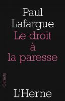Cover for 'Le droit à la paresse'