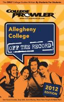 Cover for 'Allegheny College 2012'
