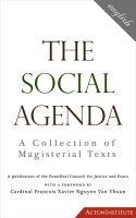 Cover for 'The Social Agenda: A Collection of Magisterial Texts'