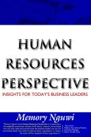 Cover for 'HUMAN RESOURCES PERSPECTIVE - Insights for Today's Business Leaders'