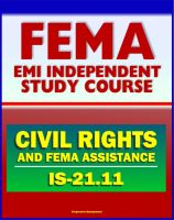 Cover for '21st Century FEMA Study Course: Civil Rights and FEMA Disaster Assistance (IS-21.11) - Ensuring the Civil Rights of FEMA Customers'
