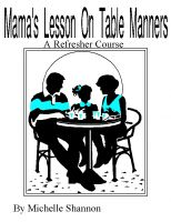 Cover for 'Mama's Lesson on Table Manners'