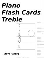 Cover for 'Piano Flash Cards - Treble'