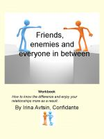 Cover for 'Friends, enemies and everyone in between'