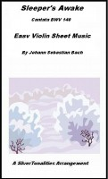 SilverTonalities Sheet Music Services - Sleeper's Awake BWV 140 Easy Violin Sheet Music