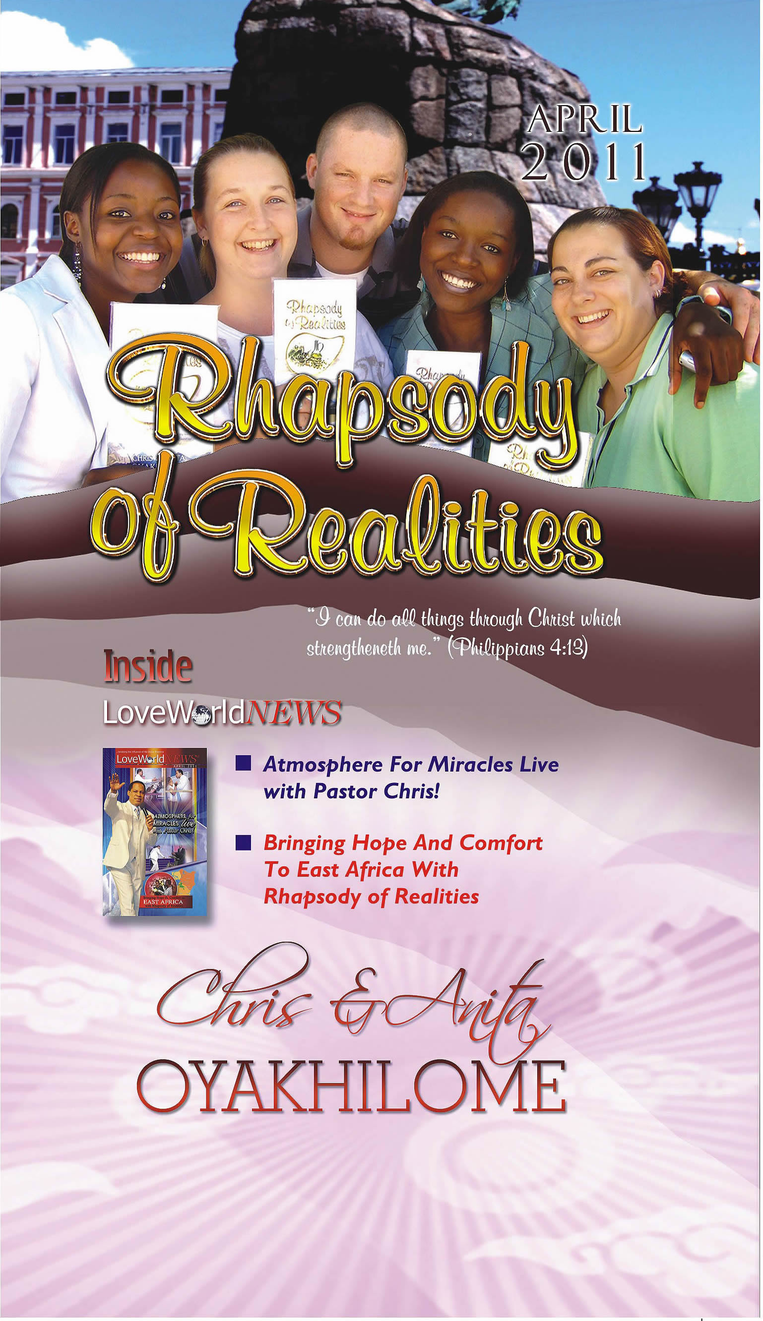 Pastor Chris and Anita Oyakhilome - Rhapsody Of Realities April 2011 Edition