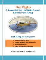 Cover for 'First Flights: A Successful Start to Radio Control Electric Park Flying'