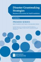 Cover for 'Disaster Grantmaking Strategies: Response & Prevention for Small Foundations'
