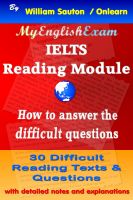 Cover for 'IELTS Reading Module: How to Answer the Difficult Questions'