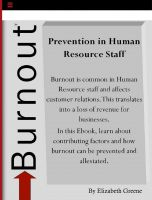 Cover for 'Prevention of Burnout in Human Resource Staff'