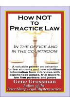 Cover for 'How NOT to Practice Law - in the Office  and in the Courtroom'