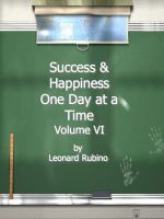 Cover for 'Success and Happiness, One Day at a Time. Volume VI'
