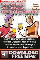 Cover for 'Learn Japanese with Dialogues: Greetings and Meetings'