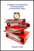 Cover for 'Guidelines for Organization of Working Papers on Operational Audits'