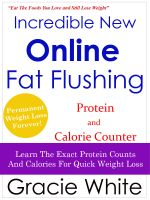 Cover for 'Incredible New Online Fat Flushing Protein and Calorie Counter'
