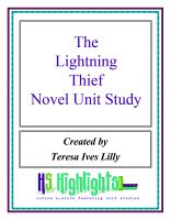 Cover for 'The Lightning Thief Literature Novel Unit Study'