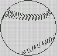 Cover for 'Baseball Cross Stitch Pattern'