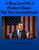 Cover for 'A Short List of 200 of President Obama's First Term Accomplishments'