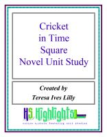 Cover for 'Cricket in Time Square Novel Unit Study'