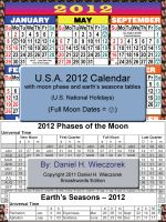 Cover for '2012 U.S.A. Calendar With Moon Phase Table'