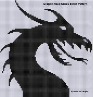 Cover for 'Dragon Head 2 Cross Stitch Pattern'