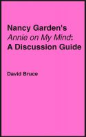 "Cover for 'Nancy Garden's ""Annie on My Mind"": A Discussion Guide'"