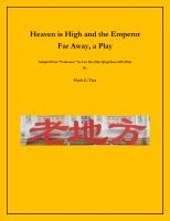 Cover for 'Heaven is High and the Emperor Far Away, a Play'