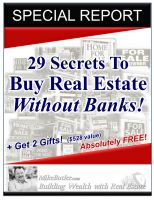 Cover for '29 Secrets to Buy Real Estate Without Banks!'