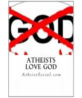 Cover for 'Atheists love God'
