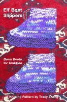 Cover for 'Elf Boot Slippers Knitting Pattern'