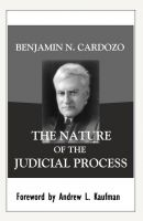 Cover for 'The Nature of the Judicial Process'