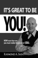 Cover for 'It's Great to Be YOU! Now more than ever, you must realize the power of you.'