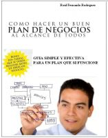 Cover for 'Plan De Negocios: Una Guía Simple Y Efectiva  Para Un Plan De Negocios Que Si Funcione'