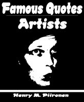 Cover for 'Famous Quotes on Artists'