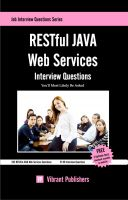 Cover for 'RESTful JAVA Web Services Interview Questions You'll Most Likely Be Asked'