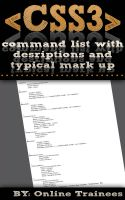 Cover for 'Comprehensive CSS3 Command List, With Descriptions And Typical Mark Up'