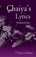 Cover for 'Chaiya's Lyrics - Testament One'